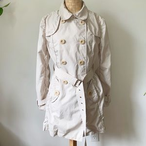 L.L Bean Beige Belted Trench Coat